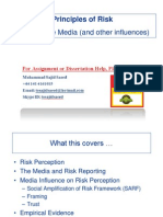 Risk Perception and Media