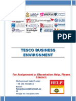 Tesco Business Environment
