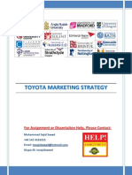 Toyota Strategy Marketing