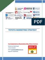Toyota Strategy Marketing