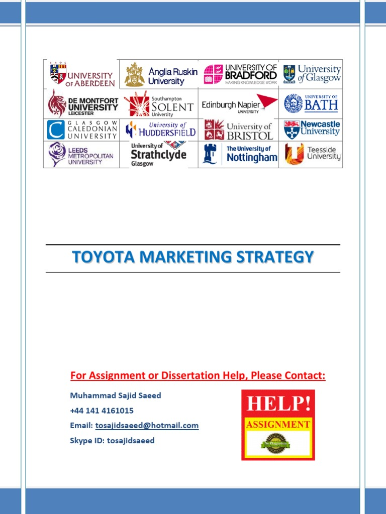 the toyota marketing strategy Engaging stakeholders is central to the success of this strategy  mass-market  appeal, toyota hybrids have created a significant positive impact in gasoline.