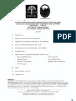 SOBO Meeting, April 17, 2013 Agenda Packet