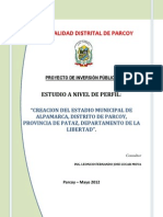 PIP - CREACION DE ESTADIO MUNICIPAL DE ALPAMARCA - DISTRITO DE PARCOY - PATAZ - LA LIBERTA.pdf
