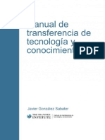 Manual de Transferencia de Tecnologia y Conocimiento