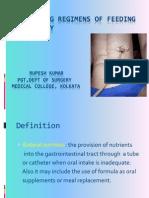 Prescribing Regimens of Feeding Jejunostomy