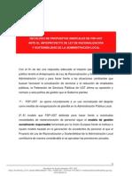 Decálogo Reforma Administracion Local UGT