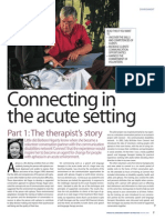 Connecting in the acute setting