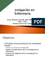 1-Investigación en Enfermería