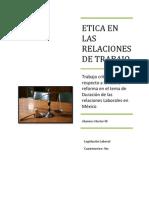 Etica en Las Relaciones de Trabajo