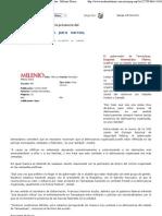 10-01-08 Justifica Eugenio Hernández la presencia del cártel del Golfo - Milenio