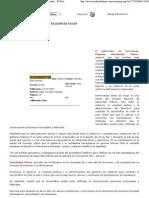 10-01-08 Posible infiltración en la policía local - Diario Monitor