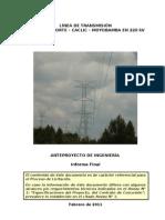 Anteproyecto LT 220 kV Cajamarca-Caclic-Moyobamba (16!02!2011) DGE