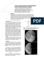 Determination of Orbital Elements of the Moon (Preliminary)