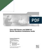 Cisco ADSL Router 837 - HwInstallGuide