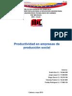 Costo y Productividad