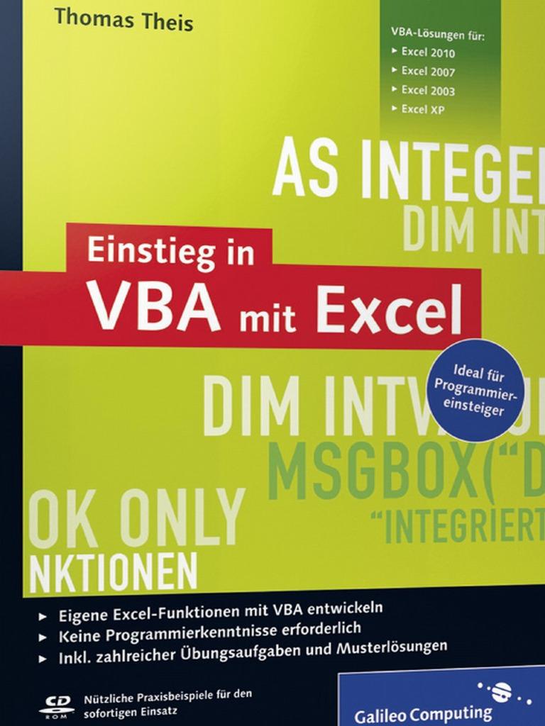 Einstieg Mit VBA in Excel