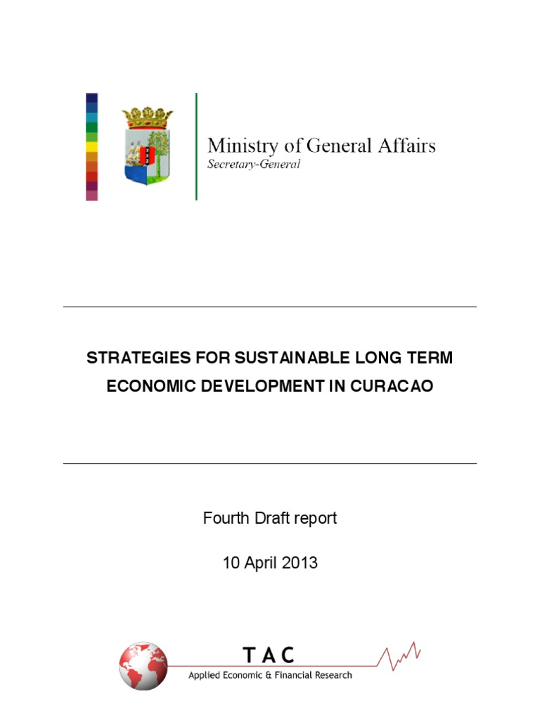 strategies for sustainable long term economic development in curacao