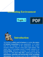 BBA UST Topic1 Accounting Environment