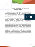 Matriz de Objetos de Avaliação do PAS Segunda Etapa Subprograma 2012-2014