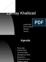 Biographical Analysis Ambassador Zalmay Khalilzad