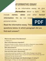 An Informative Essay