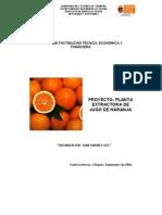 Planta Extractora de Jugo de Naranja