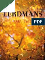 Eerdmans Fall 2013