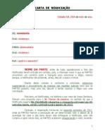 Carta de Negociação - contraproposta