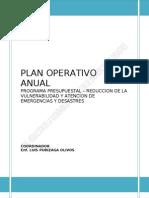 Plan Operativo Anual 2013 de Reduccion de La Vulnerabilidad