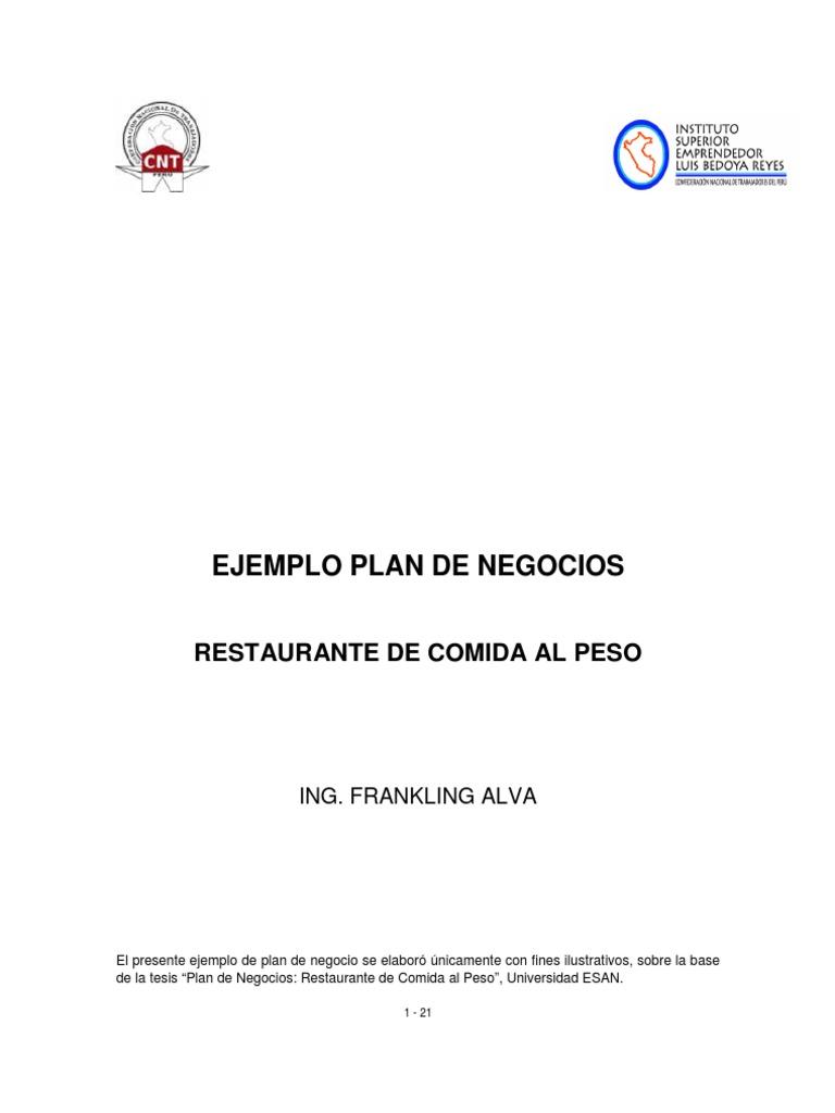 ejemplo plan negocio de servicios