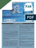Prova do PAS 1a Etapa 2012  Caderno  NATAÇÃO