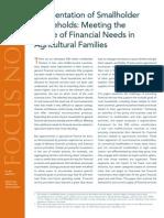 Segmentation of Smallholder Households