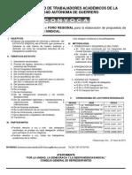 Convocatoria Foros Regionales de Modificacion Del ESTATUTO 2009