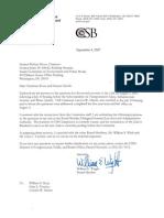 CSB Reponse to Senate 2007
