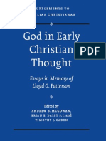 80055890 God in Early Christian Thought