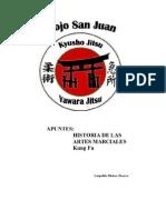 APUNTES HISTORIA DE LAS ARTES MARCIALES; KUNG FU
