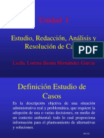 Admon 3 Unidad 1 Estudio, Analisis y Resolucion de Casos