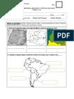 Prueba historia Tipos de mapas. América del Sur. Países que limitan con Chile. Los continentes. 2Los planos