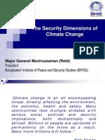 Maj Gen Muniruzzaman the Security Dimensions of Climate Change COP15