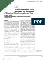 Protecting Organization Reputations During a Crisis