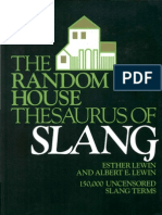 The Random House Thesaurus of Slang