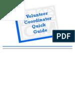 Volunteer Coordinator Quick Guide