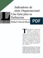 Indicadores de Gestión Organizacional