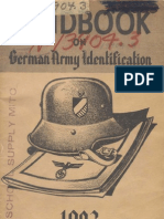 Handbook on German Army Identification(1943)