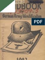 Handbook on German Army Identification(1943)