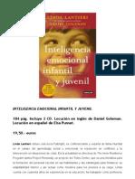 Dossier Prensa Inteligencia Emocional Infantil Juvenil