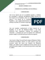 Decreto Numero 40-94 Ley Organica Del Ministerio Publico