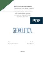 GEOPOLITICA TRABAJO DE DEFENSA VII.doc