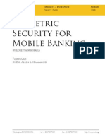 Biometric Security For Mobile Banking 2008