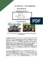Nota de Prensa SALVAMENTO